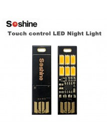 Soshine Mini USB Power 6-LED Night Light (Touch Dimmer) - 5 pcs