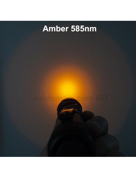 501B Cree XP-E2 Amber 585nm 1-Mode Jade Flashlight - Black ( 1x18650 )