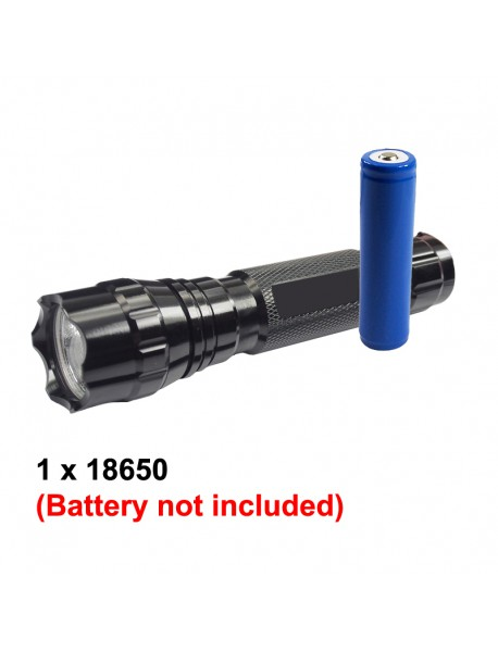 501B Cree XP-E2 Blue 470nm 3V - 4.5V OP P60 LED Flashlight - Black ( 1x18650 )