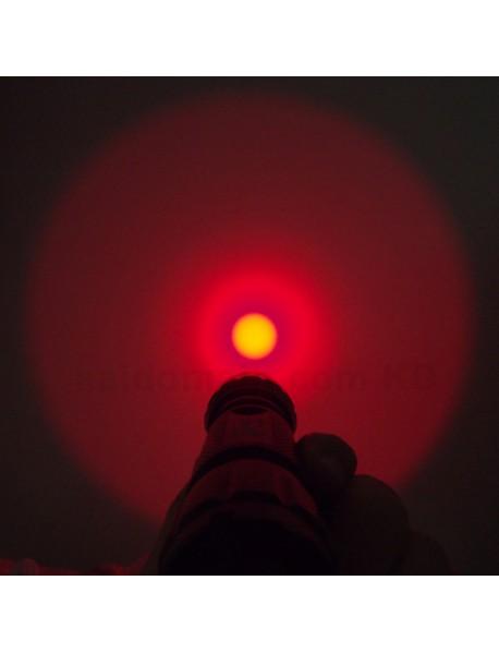 501B Cree XP-E2 Red 620nm 3V - 4.5V OP P60 LED Flashlight - Black ( 1x18650 )