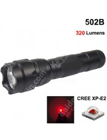 502B Cree XP-E2 Red 620nm 3V - 4.5V OP P60 LED Flashlight - Black ( 1x18650 )