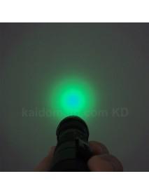 502B Cree XP-E2 Green 530nm 3V - 4.5V OP P60 LED Flashlight - Black ( 1x18650 )