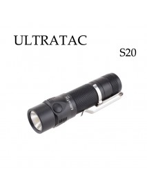 UltraTac S20 CREE XP-L 1100 Lumens 4-Mode Rechargeable Pocket EDC Flashlight   (1 x 18650)
