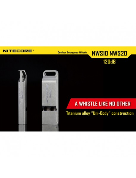 NiteCore NWS10 120dB Outdoor Emergency Whistle