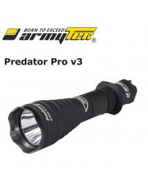 Armytek Predator Pro v3 XHP35 HI White 1700 lumens 9-Mode LED Flashlight (1x18650 /   2xCR123A)
