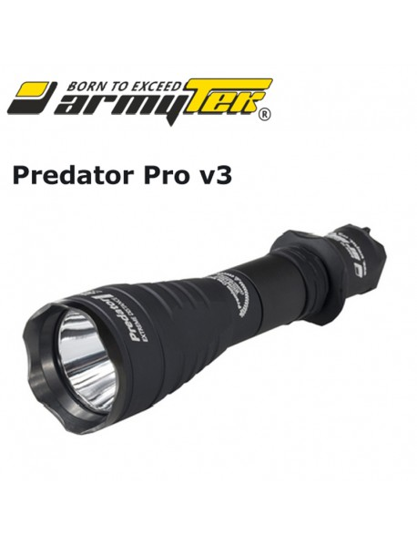 Armytek Predator Pro v3 XHP35 HI Warm White 1581lm 9-Mode LED Flashlight (1x18650 /   2xCR123A)