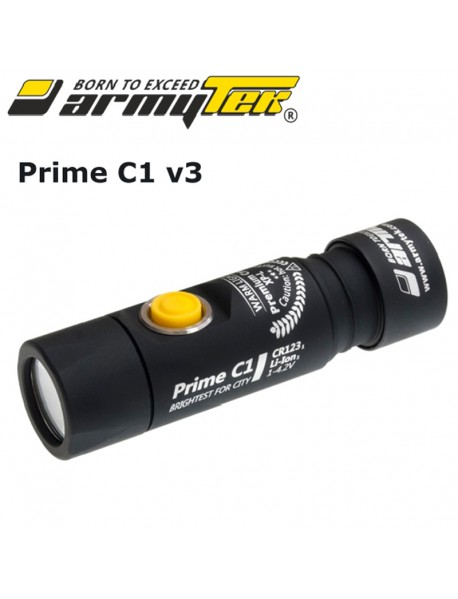 Armytek Prime C1 v3 XP-L White 800 lumens 6-Mode LED Flashlight (1xCR123A / RCR123 /   18350)