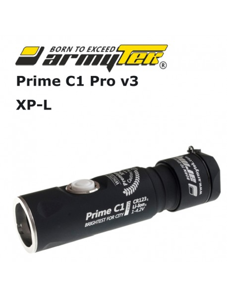 Armytek Prime C1 Pro v3 XP-L White 800 lumens 11-Mode LED Flashlight (1x18350 / 1xCR123A)