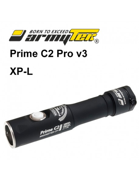 Armytek Prime C2 Pro v3 XP-L Warm White 1116 lumens 11-Mode LED Flashlight (1x18650 /   2xCR123A)