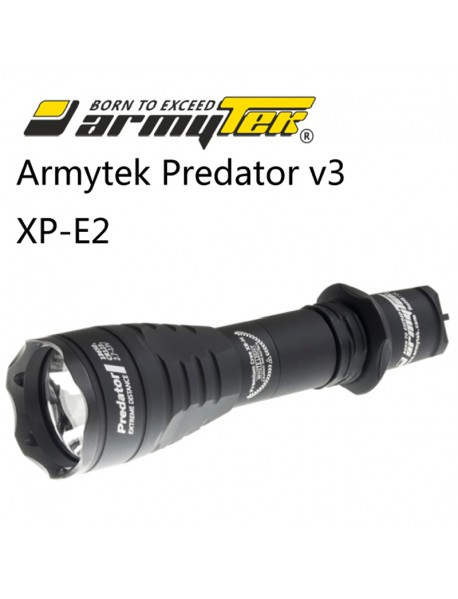 Armytek Predator v3 XP-E2 Green 240 lumens 6-Mode LED Flashlight (1x18650 / 2xCR123A)