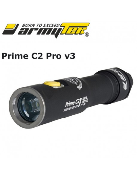 Armytek Prime C2 Pro v3 XHP35 Warm White 1953 lumens 11-Mode LED Flashlight (1x18650 / 2xCR123A)