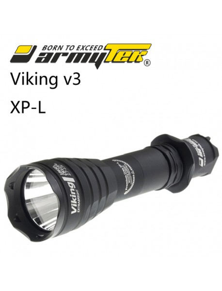 Armytek Viking v3 XP-L White 1250 lumens 6-Mode LED Flashlight(1x18650/ 2x18350/ 2xCR123A)