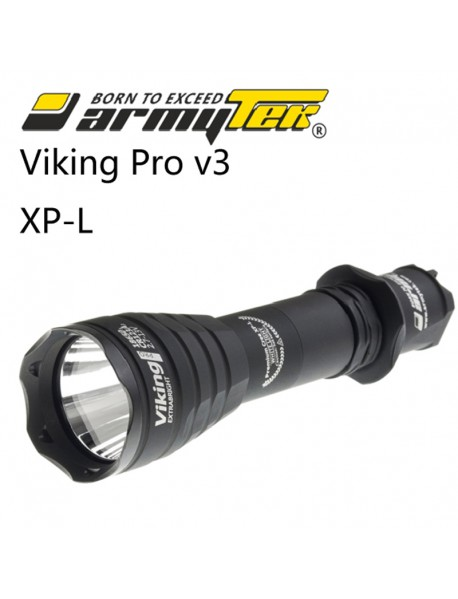 Armytek Viking Pro v3 XP-L White 1250 lumens 9-Mode LED Flashlight(1x18650 / 2xCR123A)
