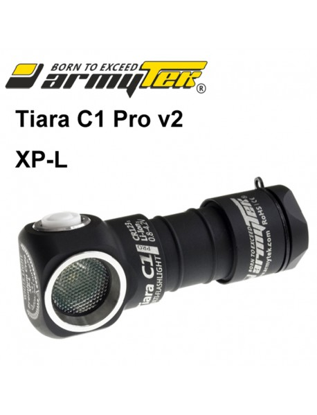Armytek Tiara C1 Pro v2 XP-L Warm White 744 lumens 10-Mode LED Flashlight (1 x CR123A / 1 x 18350)