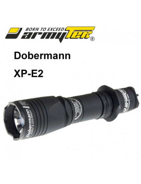 Armytek Dobermann XP-E2 Green 240 lumens 6-Mode LED Flashlight (1 x 18650 / 2 x CR123A)