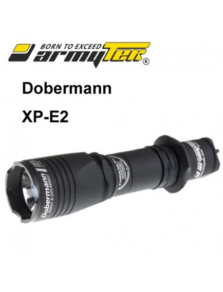 Armytek Dobermann XP-E2 Green 240 lumens 6-Mode LED Flashlight (1 x 18650 / 2 x CR123A)