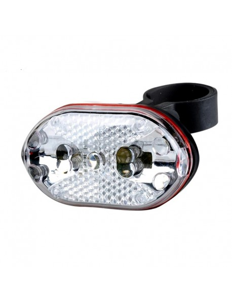 9 x LED 7-Mode Colorful Safety Bike Rear Light with Mount (2 x AAA) - White