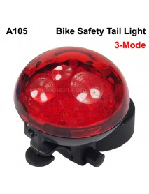 KBR-A105 5 x Red LED Light 3-Mode Bike Tail Light - Red (2 x CR2032)