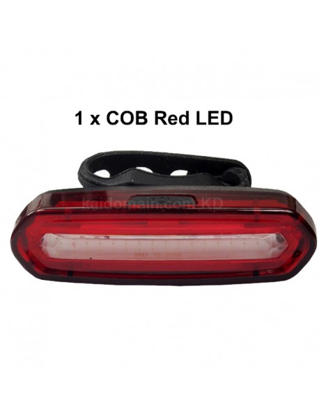 NQY-096 High Power COB Red LED Light 120 Lumens 4-Mode Rechargeable Bike Tail Light - 1 pc