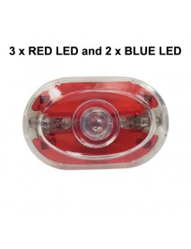 DF SX-08 5 x LED RED Safety Bike Tail Light with Mount - Red ( 2xAAA )