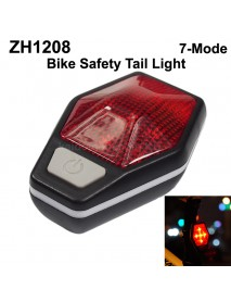 ZH1208 5 x RED LED Safety Bike Tail Light with Mount - Black ( 2xAAA )