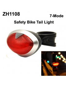 ZH1108 5 x RED LED 7-Mode Safety Bike Tail Light with Mount - Black ( 2xAAA )