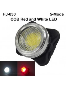 HJ-030 COB Red and White LED 50 Lumens 5-Mode USB Rechargeable Bike Tail Light ( 1 pc )