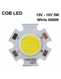 SBS 20mm COB 15V - 18V 5W 300mA COB LED Emitter ( 1 pc )