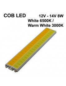 110mm(L) x 20mm(W) SBS COB 12V - 14V 8W 600mA White 6500K and Warm White 3000K COB LED Emitter (1 pc)