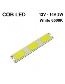 SBS 91mm(L) x 16.5mm(W) COB 12V - 14V 3W 240mA White 6000K COB LED Emitter ( 2 pcs )