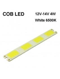SBS 121mm(L) x 16.5mm(W) COB 12V - 14V 4W 300mA White 6000K COB LED Emitter ( 2 pcs )