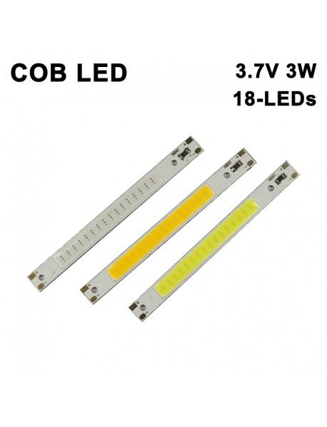 80mm (L) x 7.5mm (T) COB 3.7V 3W 18-LED 600mA 300 Lumens COB LED Emitter ( 2 pcs )