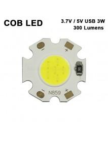 20mm (L) x 1mm (T) COB 3.7V / USB 5V 3W 300 Lumens COB LED Emitter ( 2 pcs )