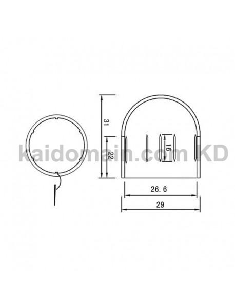 KBLD-29 Beam Light Flashlight Diffuser for 18650 LED Flashlights - White / Red / Yellow (Inner Dia. 26.6mm)