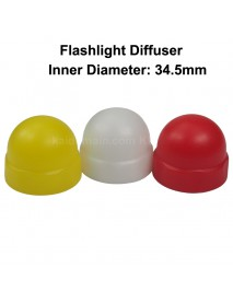 KBLD-C37 Beam Light Flashlight Diffuser for LED Flashlights - Red   Yellow White (Inner Dia. 34.5mm)