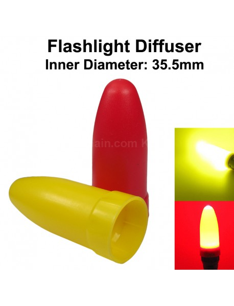 KBLD-A39 Beam Light Flashlight Diffuser for LED Flashlights - Red and Yellow (Inner Dia. 35.5mm)