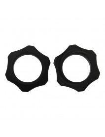 Silicone Tactical Ring for 18650 Flashlight Host - Black (2 pcs)