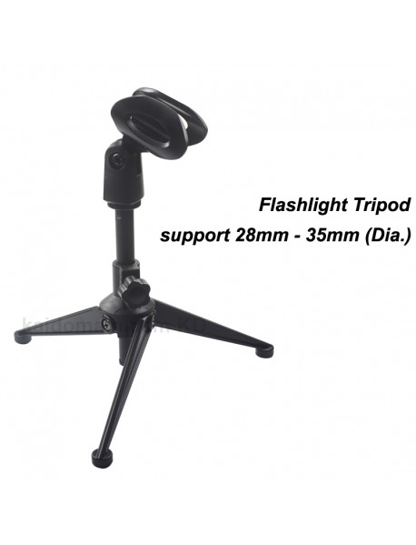 Flashlight Tripod for Flashlight Tube 28mm - 35mm (Dia.)