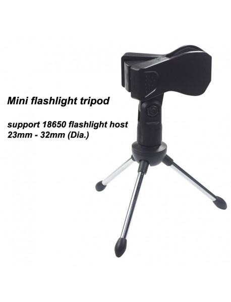Flashlight Tripod for Flashlight Tube 23mm - 32mm (Dia.)