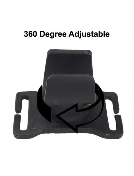KRK 360 Degree Adjustable Elastic Nylon Head Strap for Flashlight - Black (1 pc)