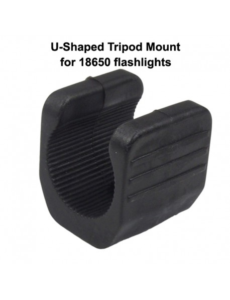 SN U-Shaped Tripod Mount for 18650 Flashlights - Black ( 1 pc )