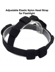 Adjustable Elastic Nylon Head Strap for LED Flashlight - Black (1 pc)