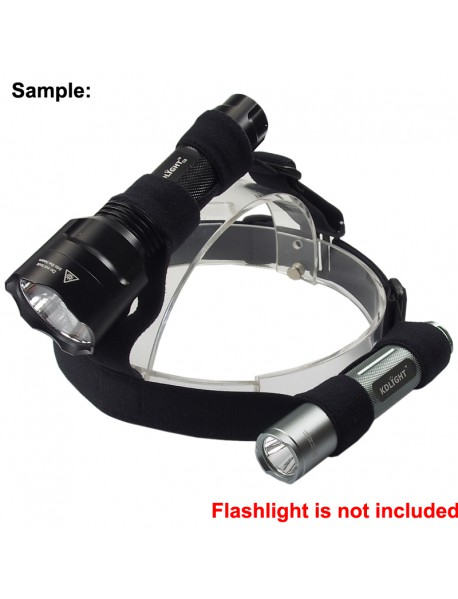 PION Adjustable Elastic Nylon Head Strap for Flashlight - Black (1 pc)