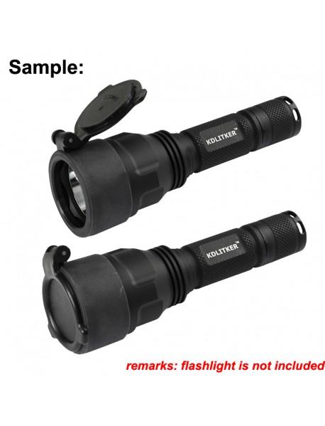 KDC44 48mm(D) x 28mm(H) Dust Cover for KDLITKER C8.2 LED Flashlight - Black