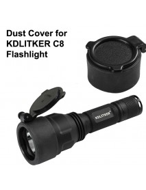 KDC44 48mm(D) x 28mm(H) Dust Cover for KDLITKER C8.2 LED Flashlight - Black