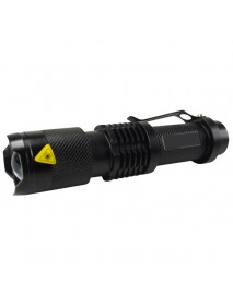 UF SK98 Cree XM-L T6 3-Mode Zoomable LED Flashlight - Black ( 1x18650 )