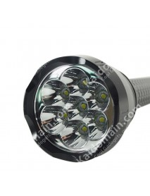 7 x Cree XM-L U2 LED 5-Mode 7000 Lumens Flashlight (3 x 18650 / 3 x 26650)