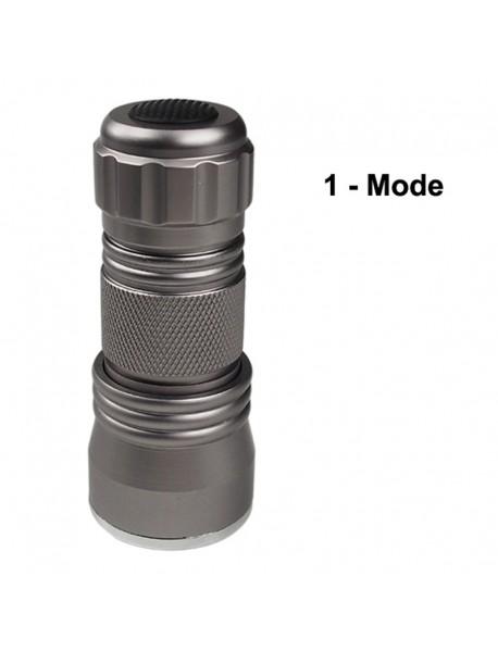 K-UV31 21 x UV LED 395nm 1-Mode Mini UV LED Flashlight - Silver ( 3xAAA )