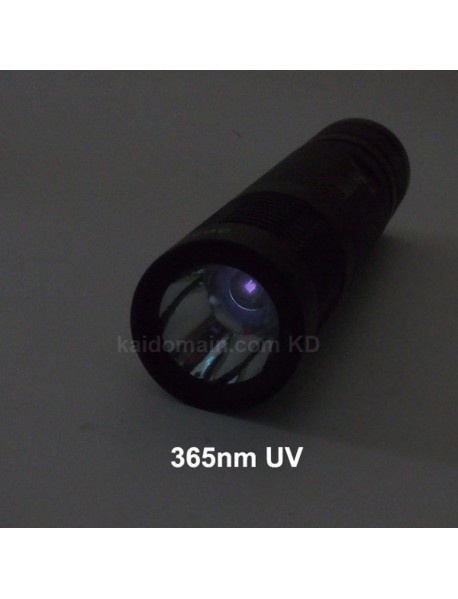 Manta Ray UV365nm /  UV395nm UV Flashlight - Black ( 1x18650 )