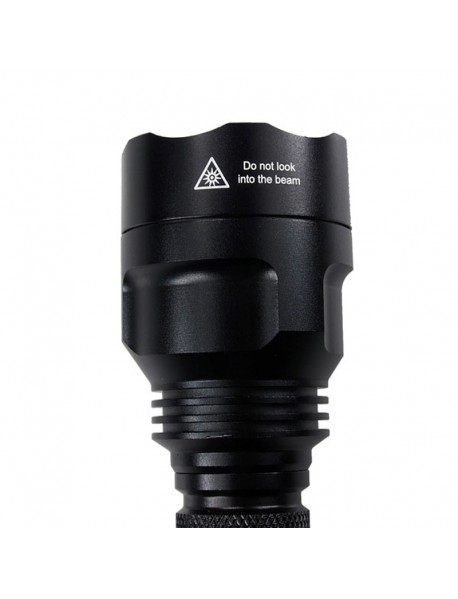 C8 Cree XM-L2 U2 3-Mode OP Flashlight with Green Fluorescent O-ring - Copper (1 x 18650)